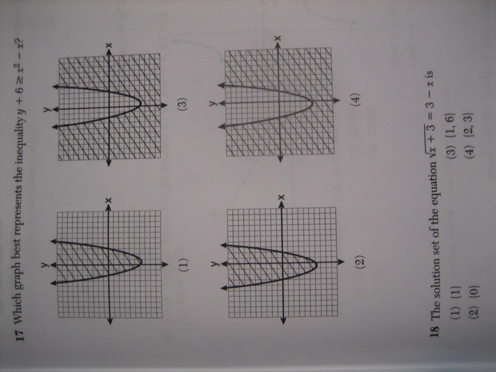 Algebra 2 / Trigonometry Regents – full list of multiple choice ...