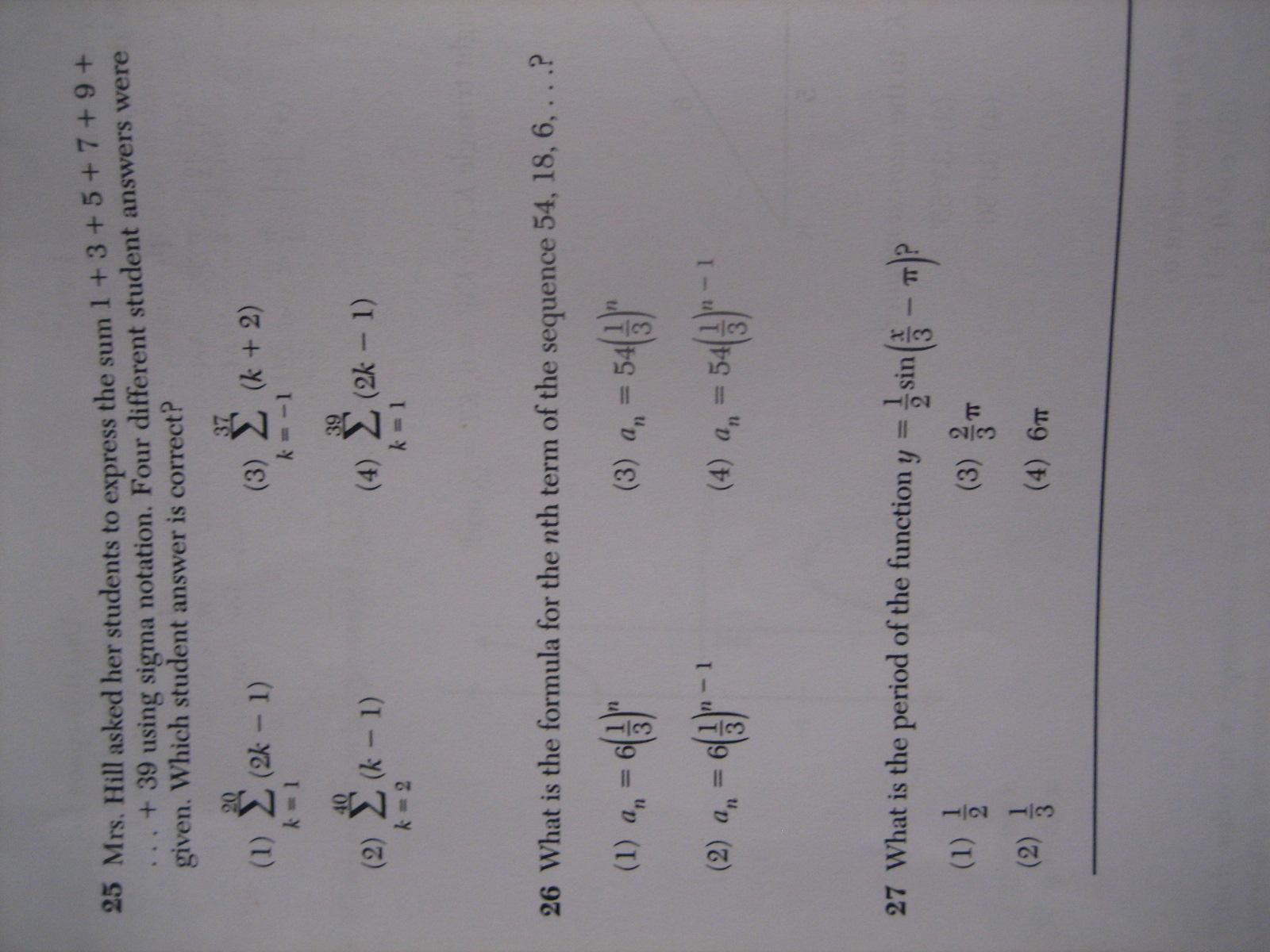 Algebra 2 trigonometry regents full list of multiple choice hi fandeluxe Images